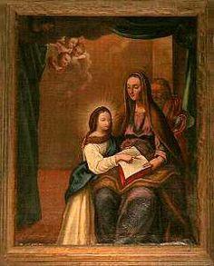 TURISMO E VACANZE in Calabria-Wonders' Club-Chiesa di San Leonardo-San Lucido-(Cosenza) Maria Bambina con sant'Anna e Gioacchino