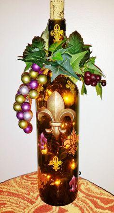 Wine Bottle Light FleurdeLis Lighted Wine by LuminousBottles, $19.99