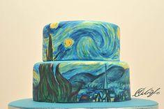 Art on Cakes: Maria A. Aristidou cria bolos inspirados em obras de arte; - Van Gogh