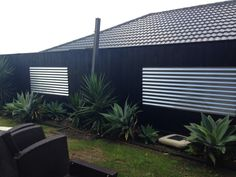 Colorbond mini screen Backyard boundary fence ideas