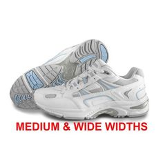 0b7239c12da Orthaheel Walker Women s Plantar Fasciitis Shoe - White Blue Plantar  Fasciitis Shoes