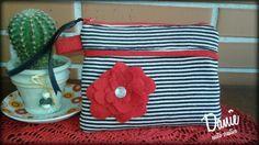 Daniè CucitoCreativo.  Necessaire red Flowers