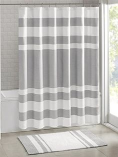 Madison Park MP70 1484 Spa Waffle Shower Curtain 72x72 G
