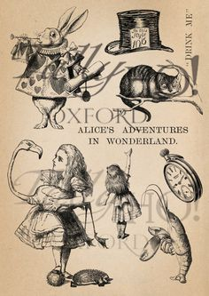 11x Alice in Wonderland illustrations in this by TallyHoOxford