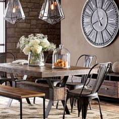 Create a warm industrial living space | Industrial dining rooms ...