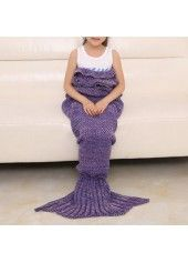 Flouncing Mermaid Tail Shape Blue Sofa Blanket for Kids  on sale only US$23.04 now, buy cheap Flouncing Mermaid Tail Shape Blue Sofa Blanket for Kids  at lulugal.com