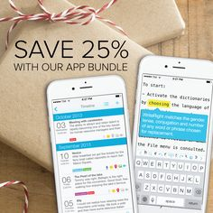 We know how easy it is to forget treating yourself during the holiday season! Keep your best memories and important plans organized through the festivities with our apps WriteRight & Tag Journal — save 25% when you buy the bundle! #apps #holiday #holidayplanning #gifts #deals #journaling #writing