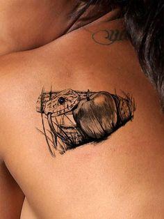 Apple & Snake Tattoo