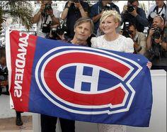 Viggo Mortensen Habs Flag Cannes Fest Montreal Canadiens, Nhl, Viggo Mortensen, Hockey Teams, Cannes, Captain America, Actors, Superhero, Logan