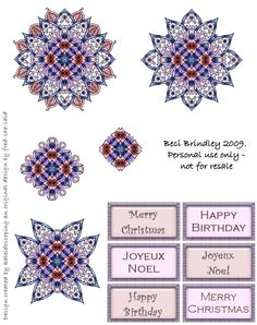 Rebecca Brindley uploaded this image to sheets'. See the album on Photobucket. 3d Christmas, Christmas Stickers, Christmas Birthday, 3d Paper, Paper Crafts, Diy Crafts, Image 3d, Origami, Decoupage Printables