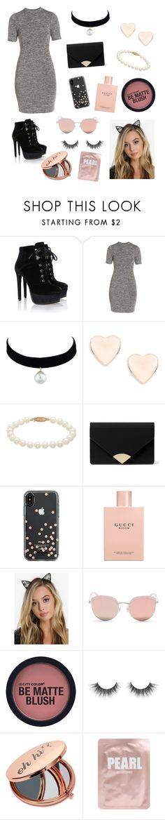"""""""Shopping day!"""" by lazygerl ❤ liked on Polyvore featuring French Connection, Ted Baker, MICHAEL Michael Kors, Kate Spade, Gucci, Stephane + Christian, Miss Selfridge and Lapcos"""