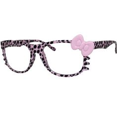 Hello Kitty Leopard Nerd Frame Clear Lens Glasses w/ Bow and Whiskers (Pink) E Focus http://www.amazon.com/dp/B00I50O5NU/ref=cm_sw_r_pi_dp_QWL8ub0RY9HGN