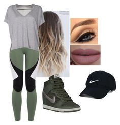 """""""aint loyal"""" by giselle760 ❤ liked on Polyvore featuring Charli Cohen, Acne Studios, NIKE and Nike Golf"""