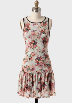 Paradise Drop Waist Dress | Modern Vintage Dresses