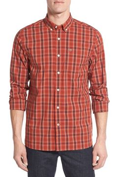 Victorinox Swiss Army® 'Yankee' Trim Fit Plaid Sport Shirt available at…