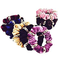 CINRA 10pcs Velvet Hair bands Hair Circle Hair Rope Hair Jewelry Hair Ring Hair Tie Headband Hair Holder Hair Beauty Tool Female Hair Accessories Color Randomly ** Check this awesome product by going to the link at the image.(This is an Amazon affiliate link)
