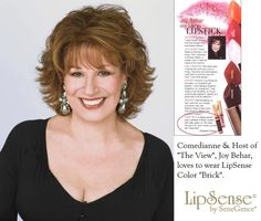 """Host of """"The View"""", Joy Behar wears LipSense Brick! Visit my Online Store at www.GetLippyWithStephanie.com and order today. Independent Distributor# 206089  I ship throughout the US and to all military addresses!"""