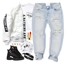"""""""Fresh Off Da Block"""" by oh-aurora ❤ liked on Polyvore featuring Moschino, Maison Margiela, One Teaspoon, River Island and Yves Saint Laurent"""
