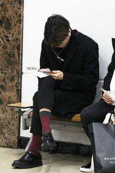 141225- EXO Kai (Kim Jongin); Osaka Airport to Gimpo Airport #exok #fashion #style