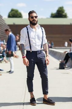 Handsome Men Looks with Suspenders (5)