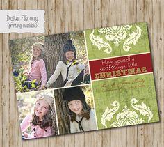 Christmas Photo Card  Customized Holiday Photo Card  Have