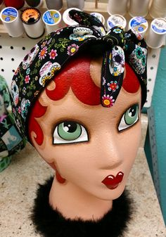 Women's Dolly Bow Headband  Pinup Bow  by RockabettieBoutique