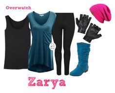 """""""Overwatch: Zarya"""" by curvygeekyfangirl ❤ liked on Polyvore featuring Doublju"""