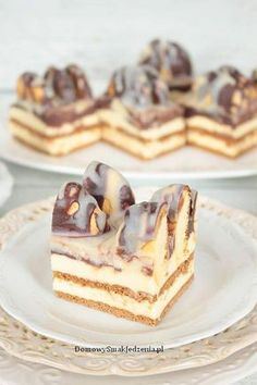Happy Foods, Polish Recipes, No Bake Desserts, Nutella, Tiramisu, Food And Drink, Cooking Recipes, Cupcakes, Candy