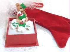Japanese Kawaii Ring  Miniature Christmas by OishisoBitsAndBites, $14.00