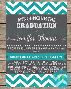 Graduation Announcement Graduation Invitation by TrunkFactory