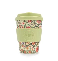 William Morris Blackthorn Ecoffee Cup is an environmentally responsible reusable Coffee Cup made with natural bamboo fibre. William Morris Ltd Edition. Cafe To Go Becher, Cappuccino Cups, Coffee Cups, Coffee Shop, Eco Cup, Take Away Cup, Reusable Coffee Cup, Disposable Cups, Fibres