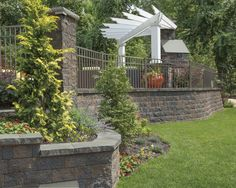 Update your backyard this year with Cambridge! Cambridge Wallstones bordering your patio are the perfect way to highlight your landscaping in the spring. The opportunities are unlimited with Cambridge Pavers.