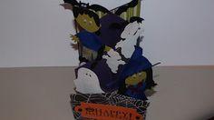 Cascading Halloween card  pieces cut with Cricut