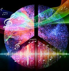 ☮ American Hippie Art ☮ Music Peace Sign