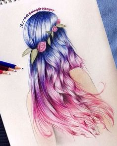 Art Hair Drawing