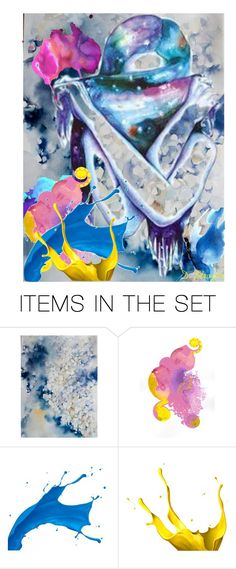 """""""Hiding"""" by deborah-strozier ❤ liked on Polyvore featuring art and modern"""