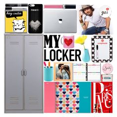 """My locker -Snapmade Decor"" by monica-dick ❤ liked on Polyvore featuring interior, interiors, interior design, home, home decor, interior decorating, Vinyl Revolution, Christian Dior, Chronicle Books and Anya Hindmarch"