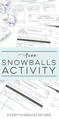 """Snowballs   http://everythingjustso.org   Have a timid group? Snowballs are sure to change that! Students write a fact about themselves before crumpling their papers and throwing them across the room. They run to find a """"snowball"""" near them and read what is written on the page. After sharing a few with the class, students add a second fact about themselves to their new papers and set them soaring. This repeats until students have written ten separate facts on ten different pages. The FREE…"""