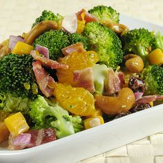 Cut up slices of cooked CB Old Country Store Maple Bacon for a tasty topping to your broccoli salad.