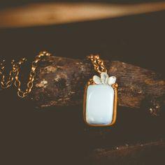 Colar de Pedra da Lua #opalite #moonstone #handmade