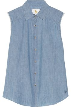 The Sleeveless chambray shirt by MiH Jeans