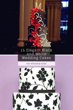 Elegant Black and White Wedding Cakes #weddingcake