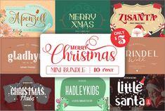 Mini Bundle for Merry Christmas #bundles #merrychristmas #font