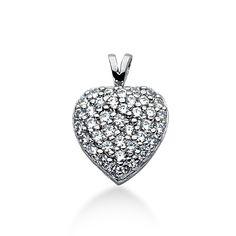 Diamantcollier - 1.00 Karat Diamanten aus 585er Weißgold für nur 1499 Euro bei www.diamantring.be
