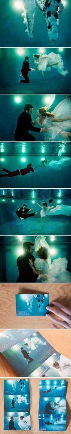 Underwater wedding pics?! Trash the dress idea, perhaps?