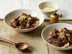 We love the kick of za'atar with the creaminess of the cooked eggplant, onion and yogurt lemon dressing.