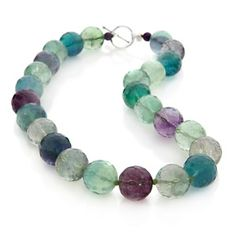 """Rarities: Fine Jewelry with Carol Brodie Fluorite and Amethyst 18"""" Beaded Necklace at HSN.com."""
