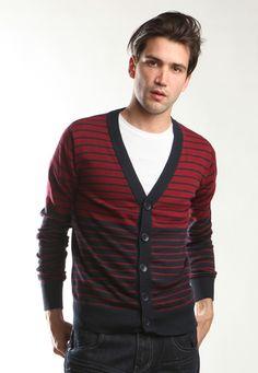 Stripe sweater cardigan