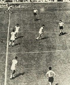 Uruguay 2 Brazil 1 in 1950 at the Maracana. Brazil kick off at the World Cup Final.