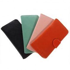 $3.44 Excellent Long Leatherette Clutch Bag Wallet Billfold Purse Burse for Female - Pink